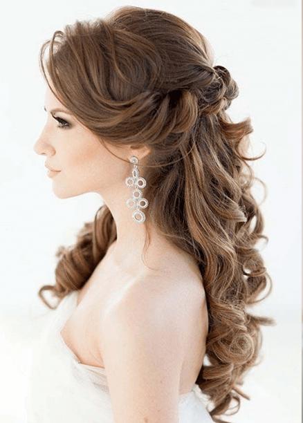 uzun düğün saç modelleri